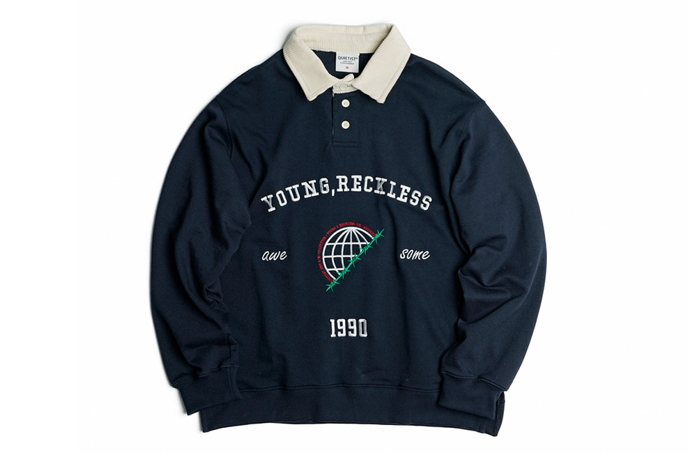 Globe Rugby-Collar Sweat (navy)